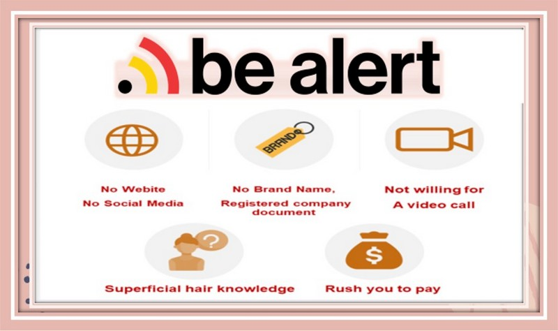 Tips to avoid being scammed by fraud hair vendors.